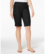 Style & Co Petite Cuffed Bermuda Shorts - Deep Black - Size 12P - $24.74