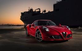2016 Alfa Romeo 4c red 24X36 inch poster, sports car - $18.99