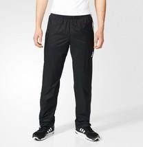 New adidas Mens Black/White Climalite Essential Woven Training Pants Gym... - $34.99
