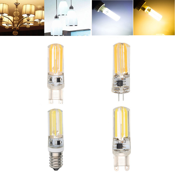 E14 G4 G9 4W COB2508  Warm White Pure White LED Corn Light Bulb AC220-240V