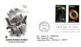 April 10, 2000 First Day of Issue, Postal Society Cover, Hubble Space Te... - $0.99