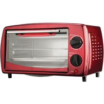 Brentwood Appliances TS-345R 4-Slice Toaster Oven and Broiler (Red) - $53.79