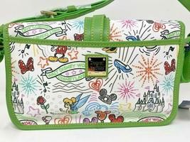 Disney Dooney & and Bourke 10th Anniversary Sketch Green Trim Crossbody ... - $168.29