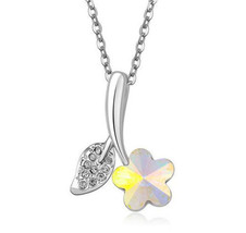 MULTICOLORED TULIP GEM NECKLACE     >> COMBINED SHIPPING <<     (679 - $4.70
