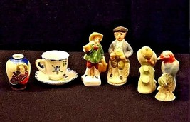 Occupied Japan Figurine Collection AB 170 – Vintage 7 Piece image 1