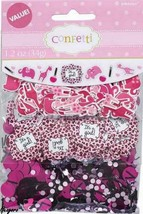 Baby Shower Sweet Safari It's a Girl Confetti Zoo Jungle Decoration Party Supply - $7.69