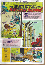 Original 1975 Batman Brave and The Bold 120 DC Comics color guide art pa... - $99.50