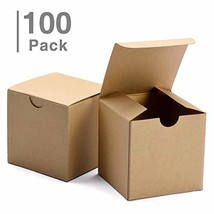 """GSSUSA Small Gift Boxes 100 Pack 3x3x3"""" Gift Boxes with Lids for Gifts, Crafting - $34.87"""