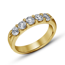 14k Yellow Gold Finish 925 Real Silver Womens Wedding Engagement Diamond... - £58.15 GBP