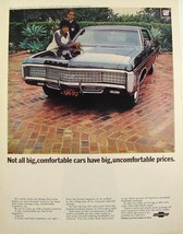 1969 Chevrolet Caprice Coupe O.J. Simpson & Wife Print Ad - $7.99