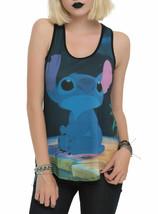 Disney Lilo & Stitch Sad Face Sublimation Racer back Tank Top Juniors S-... - $29.69
