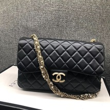 Auth Chanel Limited Ed Westminster Pearl Chain Quilted Lambskin Medium Flap bag image 2