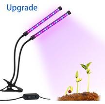 Lovebay Dual Head LED Plant Grow Light 18 W 2 Dimmable Levels Grow Lamp ... - £30.74 GBP