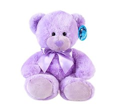 "WILDREAM Purple Teddy Bear Stuffed Animal Plush in Sitting Position 9.8"" - $13.14"