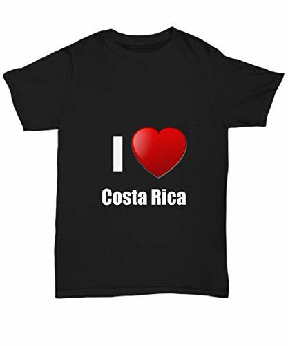 Primary image for Costa Rica T-Shirt I Love Country Lover Pride Funny Gift for Gag Unisex Tee