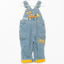 Jeans Wear Construction Overals 18 Mos Striped Bulldozer Little Builder ... - $25.63