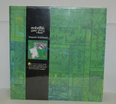 DEMDACO 17410 Embellish Your Story Green Collage Magnetic Memo Board 16 Inches