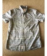 Vans Off The Wall Button Down Shirt Cotton Stripes Boy's L Young Men's S... - $12.86