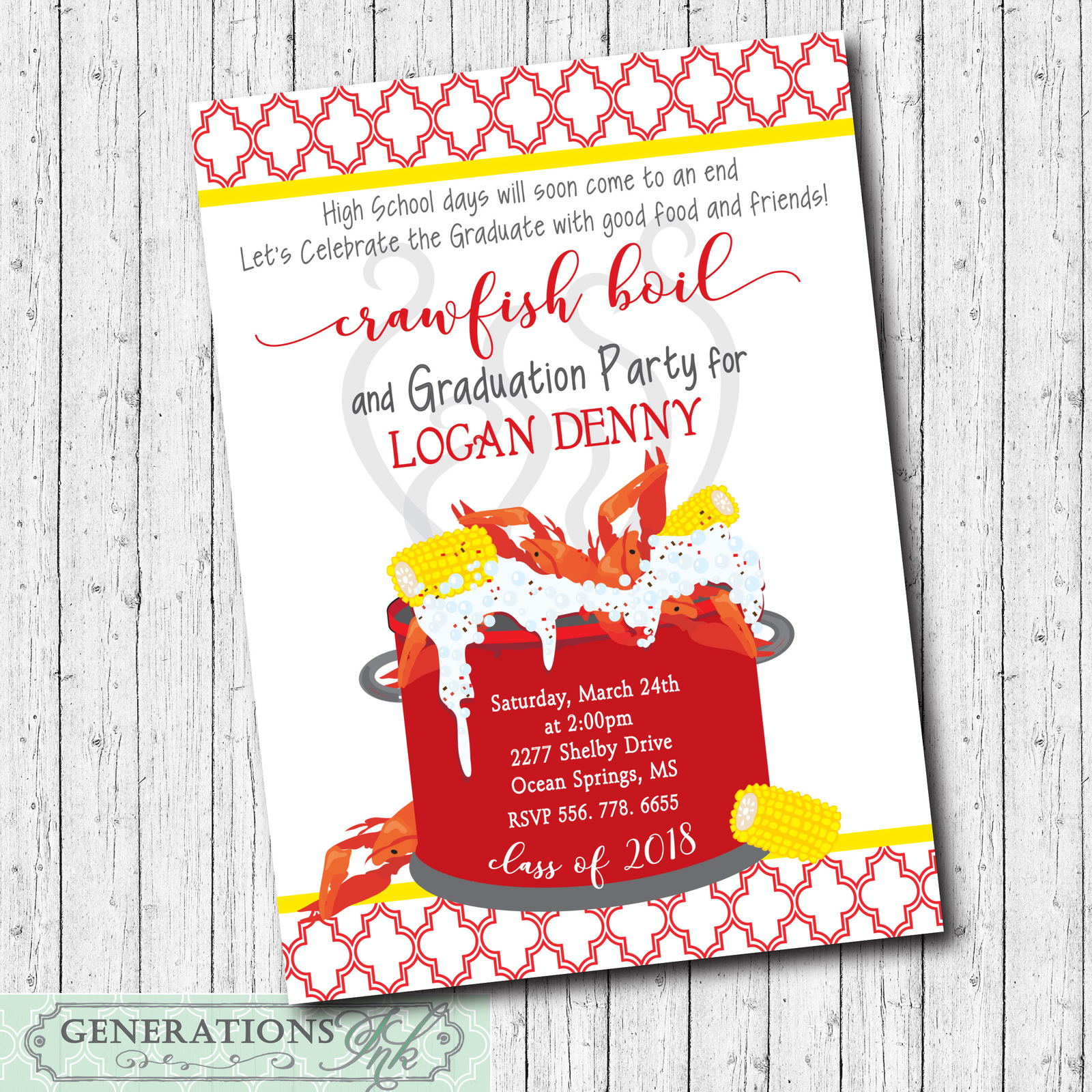 It is a photo of Canny Crawfish Boil Invitations Free Printable