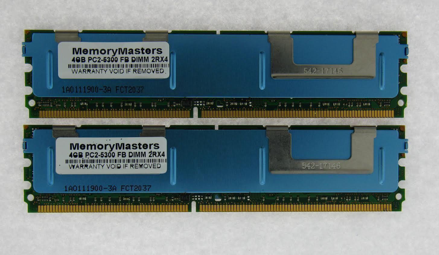 8GB 2X4GB KIT DELL FBDIMM PowerEdge 2900 M600 2950 III 2900 R900 RAM MEMORY