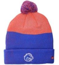 Nike Boise State Broncos Knit Pom Beanie Hat NCAA Low Crown Reflective NEW - $9.01