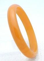 VTG Orange Yellow Lightly Marbled End of Day BAKELITE TESTED Bangle Brac... - $123.75