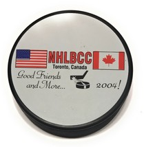 2004 Hockey Hall of Fame NHLBCC NHL Booster Club Official Hockey Puck In Glas Co - $7.91