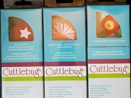 Cuttlebug Quilling 3D Flower Cutting Dies Tool Lot 3 Packages Papercraft... - $28.71