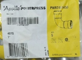 Apollo Powerpress PWR7481430 407G 90 deg Elbow 1 in Carbon Steel Bag of 5 image 2
