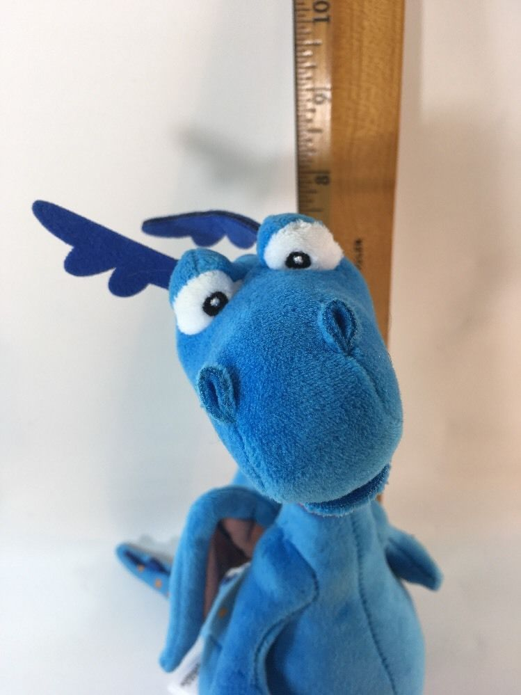 "**Stuffy Plush Dragon Doc McStuffins Disney Store item 8 1/2"" EUC Z4"