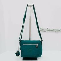 NWT Kipling AC8280 Sabian Crossbody Mini Shoulder Bag Polyamide Emerald ... - $32.95