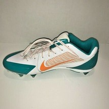 Nike NFL Miami Dolphins Men's Alpha Pro Fly Wire Football Detach Cleats 16 NWT - $52.33