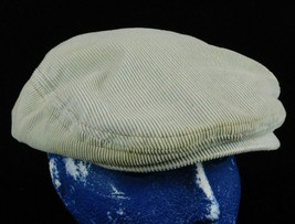Hollister Gray Corduroy Driving Newsboy Cabbie Cap Hat One Size Box Shipped - $16.99
