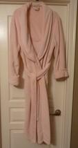 "Sonoma Women L Pink Fluffy Long Robe 49"" Warm Cozy  - $14.99"