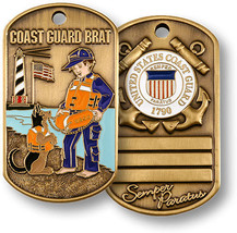 United States Coast Guard USCG Brat Dog Tag Challenge Coin - $9.89