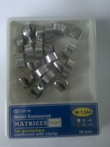 Dental TWO PACKS Metal Contoured Matrices PreMolar,Combine&Clamp 10 pcs ... - $15.28