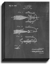 Fishing Lure Patent Print Chalkboard on Canvas - $39.95+