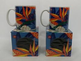 Hilo Hattie Coffee Mug 1999 Island Heritage Bird Of Paradise Flowers Lot... - $31.67