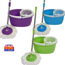 360° Rotating Head Spin Floor Mop with 2 Microfiber Heads  - $24.99+