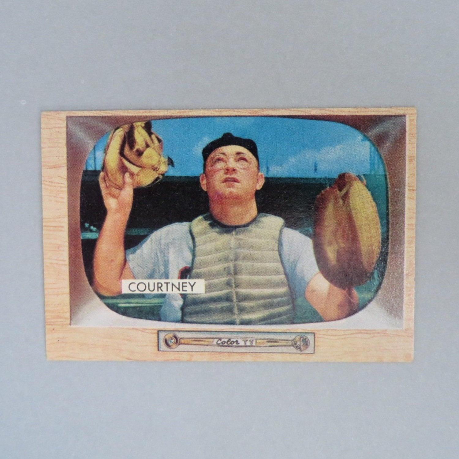 Clint Courtney 1955 Bowman Baseball Card #34, Chicago White Sox Catcher, Vintage - $15.00