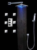 "Cascada Bathroom Shower Set with Luxury 12"" Water Power LED Shower Head (Wall Mo - $920.65"