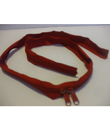 Red Nylon #7 Continuous Coil Zipper 43.5 Inch Long - $15.82