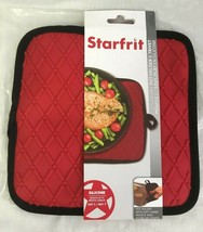 "STARFRIT Red Silicone Cotton Pot Holder & Trivet 8"" by 8"" - $9.05"