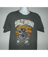 Mens Harley Davidson The Baddest of Them All t shirt large Daytona Skull... - $23.71