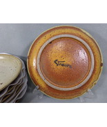 """7 Cecil Strawn 9"""" Lunch Plates Handmade Studio Pottery Vintage Signed St... - $78.95"""