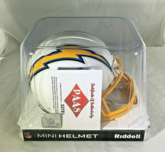 PHILLIP RIVERS / AUTOGRAPHED LOS ANGELES CHARGERS LOGO RIDDELL MINI HELMET / COA image 8