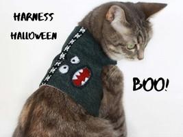 Cat harness for walking - Cat vest halloween - $27.00