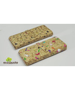 EcoQuote Long Wallet Bi Fold Wristlet Handmade Cork Material Eco Friendl... - $31.00