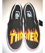 Vans x Thrasher Mens Slip on Pro Skate shoes Black White Orange Size 13 ... - $74.24