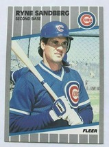 Ryne Sandberg 1989 Fleer Baseball Card #437 Chicago Cubs Baseball Hall Of  FAME - $1.27